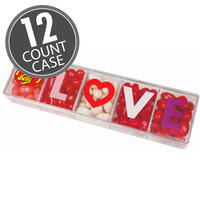 Jelly Belly 5-Flavor LOVE Clear Gift Box - 4 oz - 12 Count Case