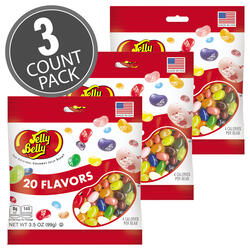 20 Assorted Jelly Bean Flavors - 3.5 oz Bag - 3-Count Pack