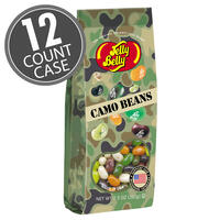 Camo Jelly Beans - 7.5 oz Gift Bag - 12 Count Case