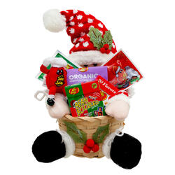 Santa Claus Christmas Holiday Gift Basket