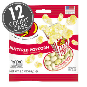 Buttered Popcorn Jelly Beans - 3.5 oz Bag - 12 Count Case
