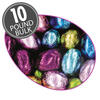 Foil-Wrapped Solid Chocolate Eggs - 10 lbs bulk