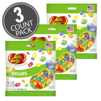 Sours Jelly Beans - 3.5 oz Bag - 3 Pack