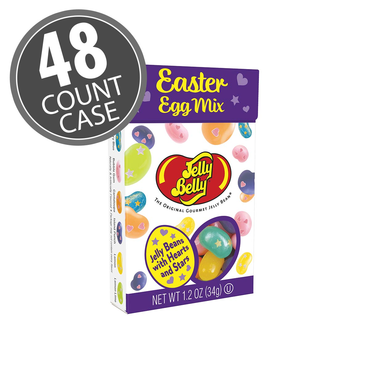 Jelly Belly Easter Egg Flip Top Box, 1.2 oz - 48 Count Case