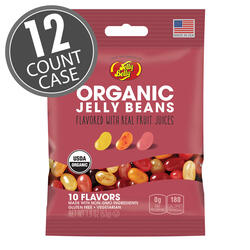 Organic Jelly Beans from the makers of Jelly Belly - 1.9 oz bag - 12 Count Case