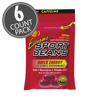 Extreme Sport Beans® Jelly Beans with CAFFEINE - Cherry 6-Count Pack