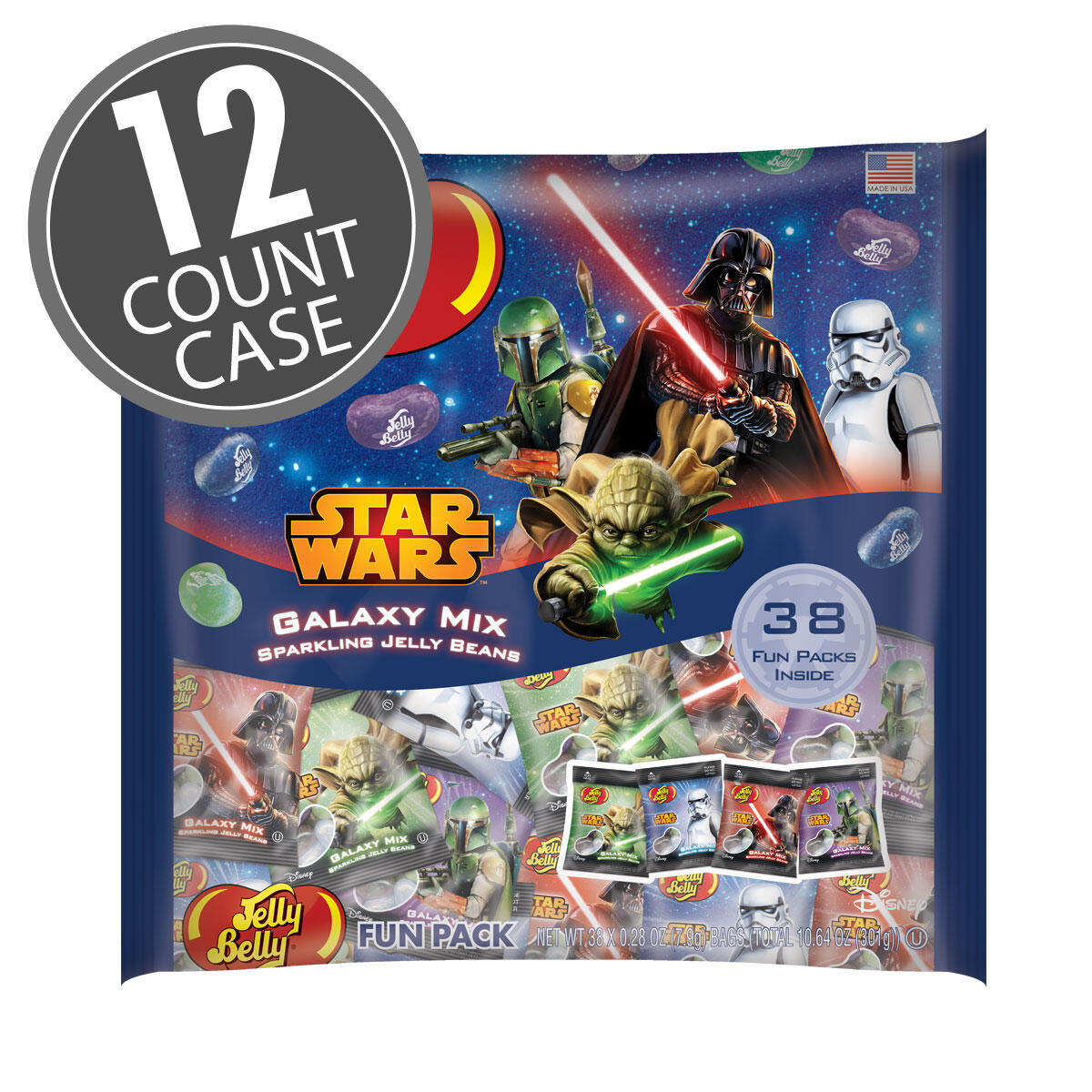 STAR WARS™ Jelly Beans Fun Pack - Galaxy Mix - 12 Count Case