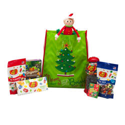 Merry & Bright Christmas Tree Tote Bag