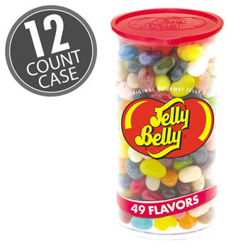 49 Assorted Jelly Bean Flavors - 12 oz Clear Can - 12-Count Case