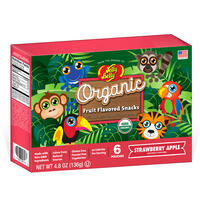 Organic Fruit Flavored Snacks - Rainforest Animals Strawberry Apple - 4.8 oz Box