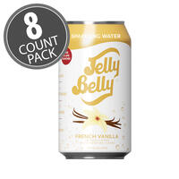 Jelly Belly French Vanilla Sparkling Water - 8 Pack