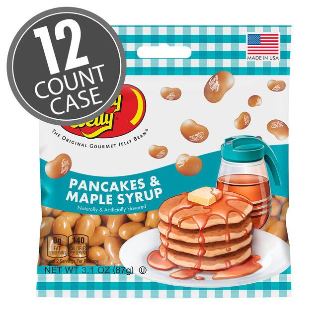 Pancakes & Maple Syrup Jelly Beans 3.1 oz Grab & Go® Bag - 12 Count Case