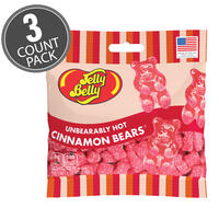 Unbearably HOT Cinnamon Bears - 3 oz Bag - 3-Count Pack