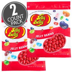Very Cherry Jelly Beans - 16 oz Re-Sealable Bag - 2 Pack