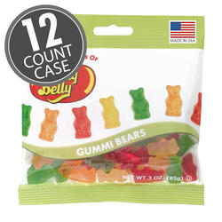 Gummi Bears - 3 oz Bag - 12 Count Case