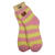 Jelly Belly Fuzzy Socks - Pink and Yellow - Medium-thumbnail-1
