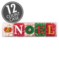 Jelly Belly 5-Flavor NOEL Clear Gift Box - 4 oz - 12 Count Case