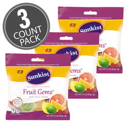 Sunkist® Fruit Gems® - 3.1 oz Bag - 3-Count Pack
