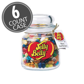 49 Assorted Jelly Bean Flavors Apothecary Jar - 6-Count Case