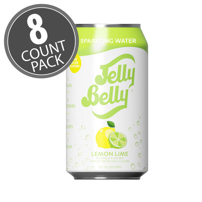 Jelly Belly Lemon Lime Sparkling Water - 8 Pack