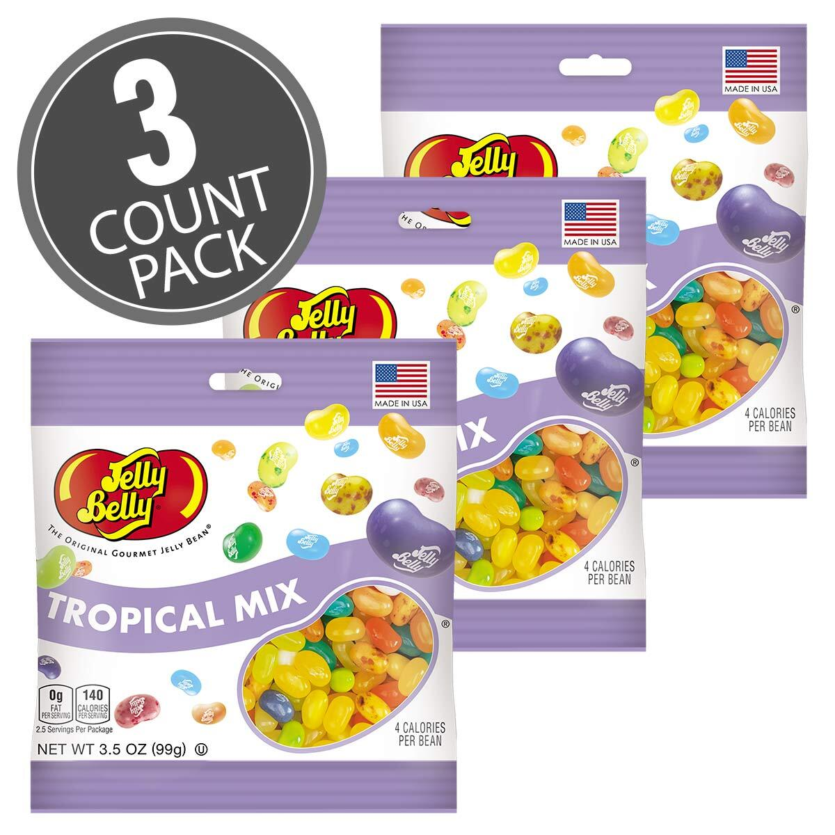 Tropical Mix Jelly Beans - 3.5 oz Bag - 3 Pack