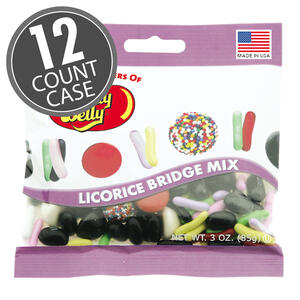 Licorice Bridge Mix - 3 oz Bag - 12 Count Case