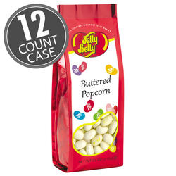 Buttered Popcorn Jelly Beans - 7.5 oz Gift Bag - 12 Count Case