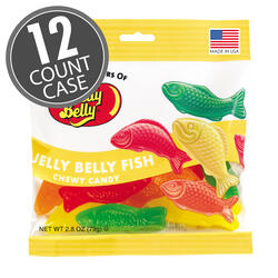 Jelly Belly Fish Chewy Candy - 2.8 oz Bag - 12 Count Case