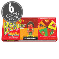 BeanBoozled Fiery Five 3.5 oz Spinner Gift Box - 6-Count Pack