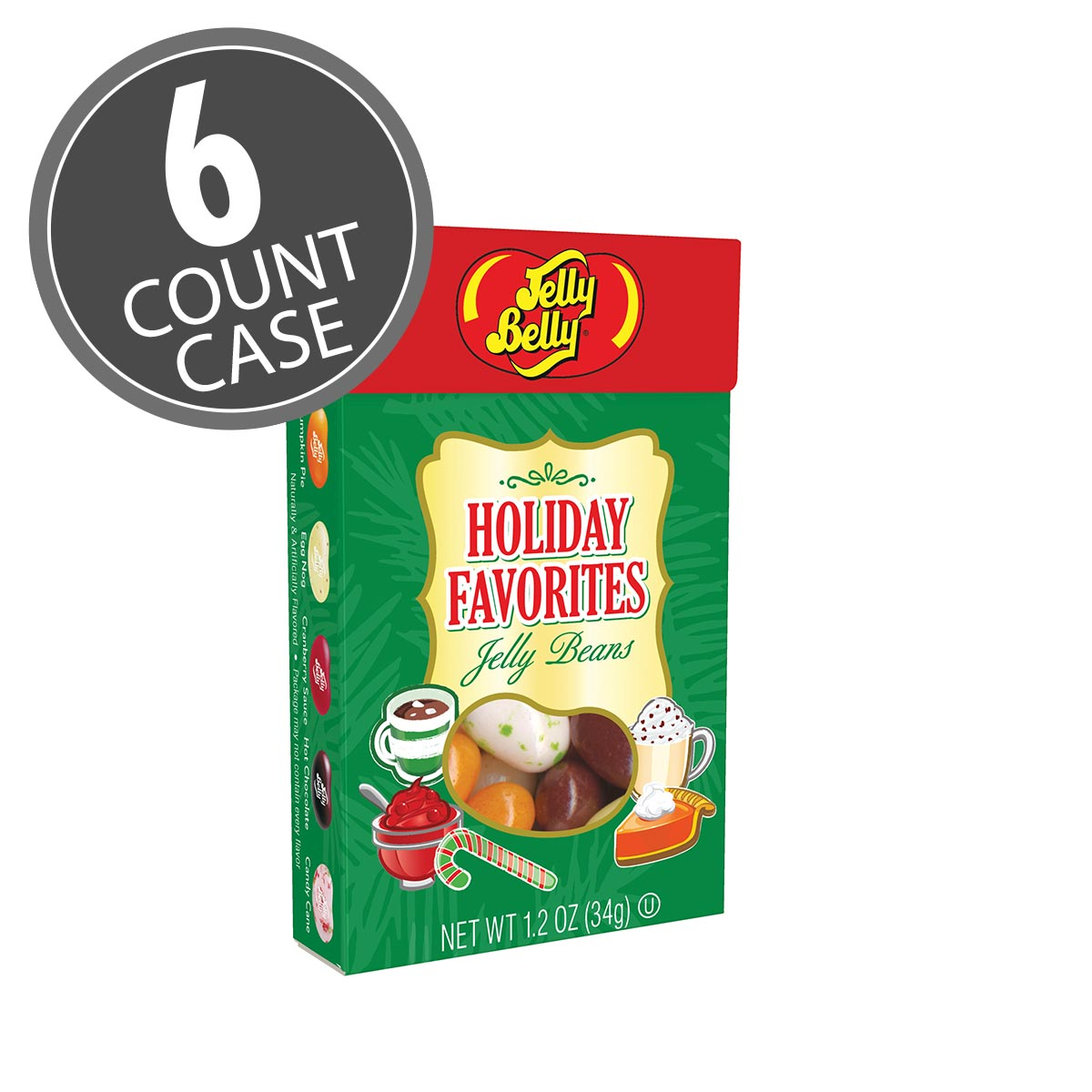 Holiday Favorites Jelly Bean 1.2 oz Flip Top Box - 6 Count Case