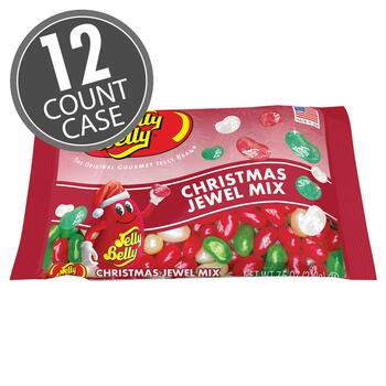 Jelly Belly Jewel Christmas Mix - 7.5 oz Laydown Bags - 12-Count Case