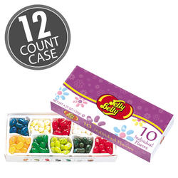Jelly Belly Beananza 10 Flavor Gift Box with Spring Sleeve - 12-Count Case