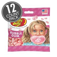 Bubble Gum Jelly Beans 3.5 oz Grab & Go® Bag - 12 Count Case