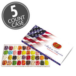 40 Flavor Jelly Bean Patriotic Gift Box - 5-Count Case