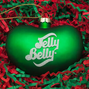 Jelly Belly Bean Ornament - Green