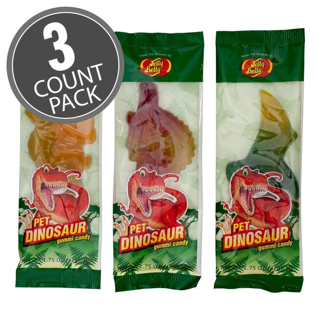 Gummi Pet Dinosaurs - 1.75 oz - 3-Count Pack