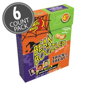 BeanBoozled Trick or Treat Jelly Beans 1.6 oz Flip Top Box (4th Edition), 6-Count Pack