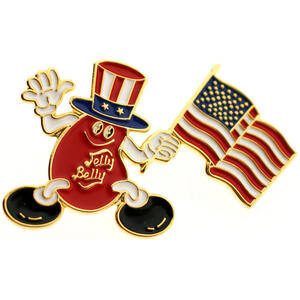 Mr. Jelly Belly American Flag Pin