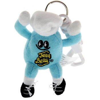 Mr. Jelly Belly Mini Plush Keychain - Berry Blue