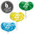 Jelly Belly Lollipops 6-Count Pack - Berry Blue, Buttered Popcorn & Green Apple-thumbnail-1