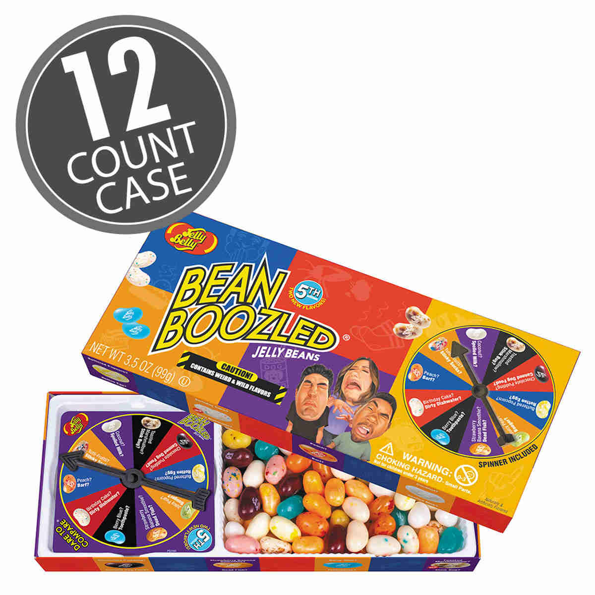 BeanBoozled Spinner Jelly Bean Gift Box (5th edition) 12-Count Case