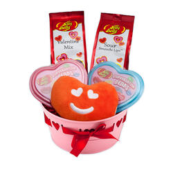 Heart Design Round Container