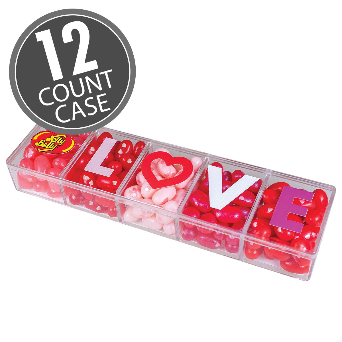 Jelly Belly LOVE Beans 4 oz Clear Gift Box - 12 Count Case