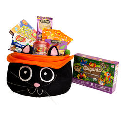 Black Cat Halloween Gift Basket