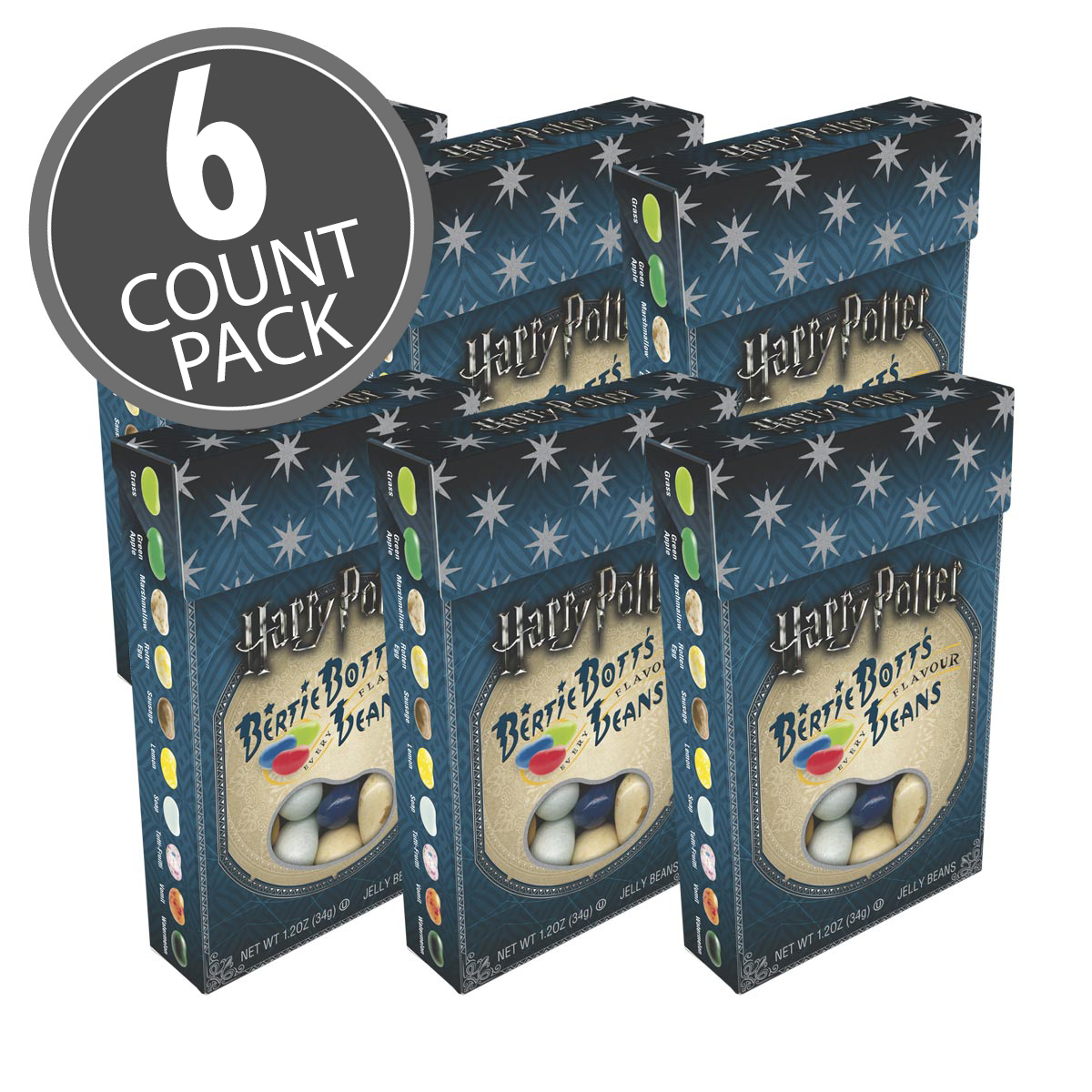 Bean Boozled Spinner Game Harry Potter Chocolate Frog Jelly Refill Dispenser Bertie Botts Every Flavour Beans 12 Oz Box 6 Pack Product Belly