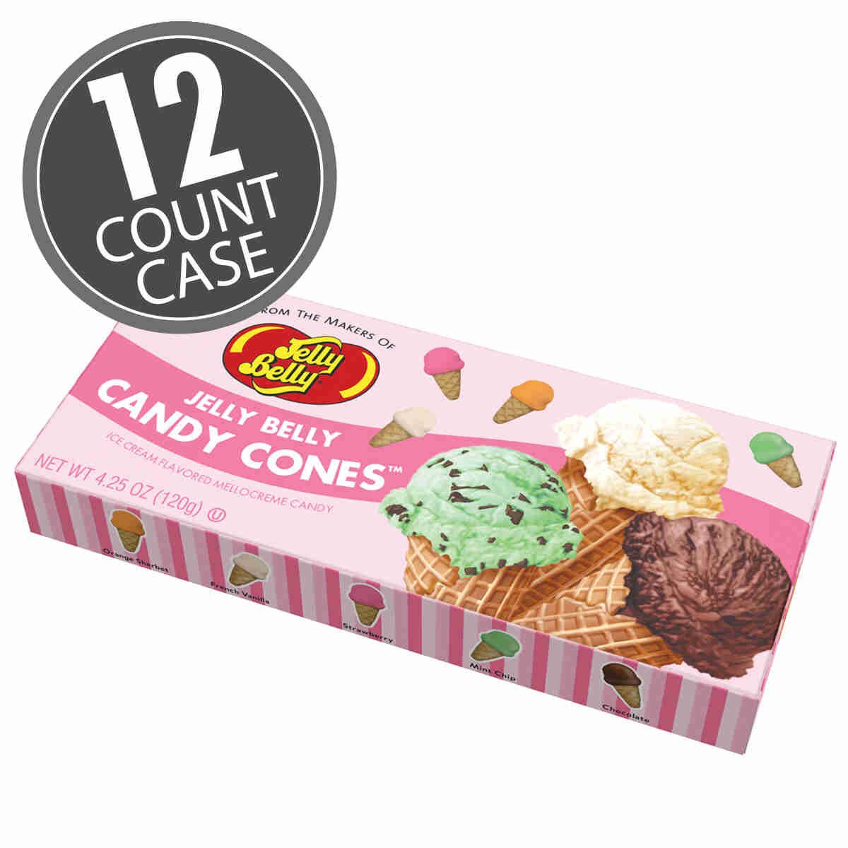 Jelly Belly Candy Cones® - 4.25 oz Gift Box, 12-Count Case