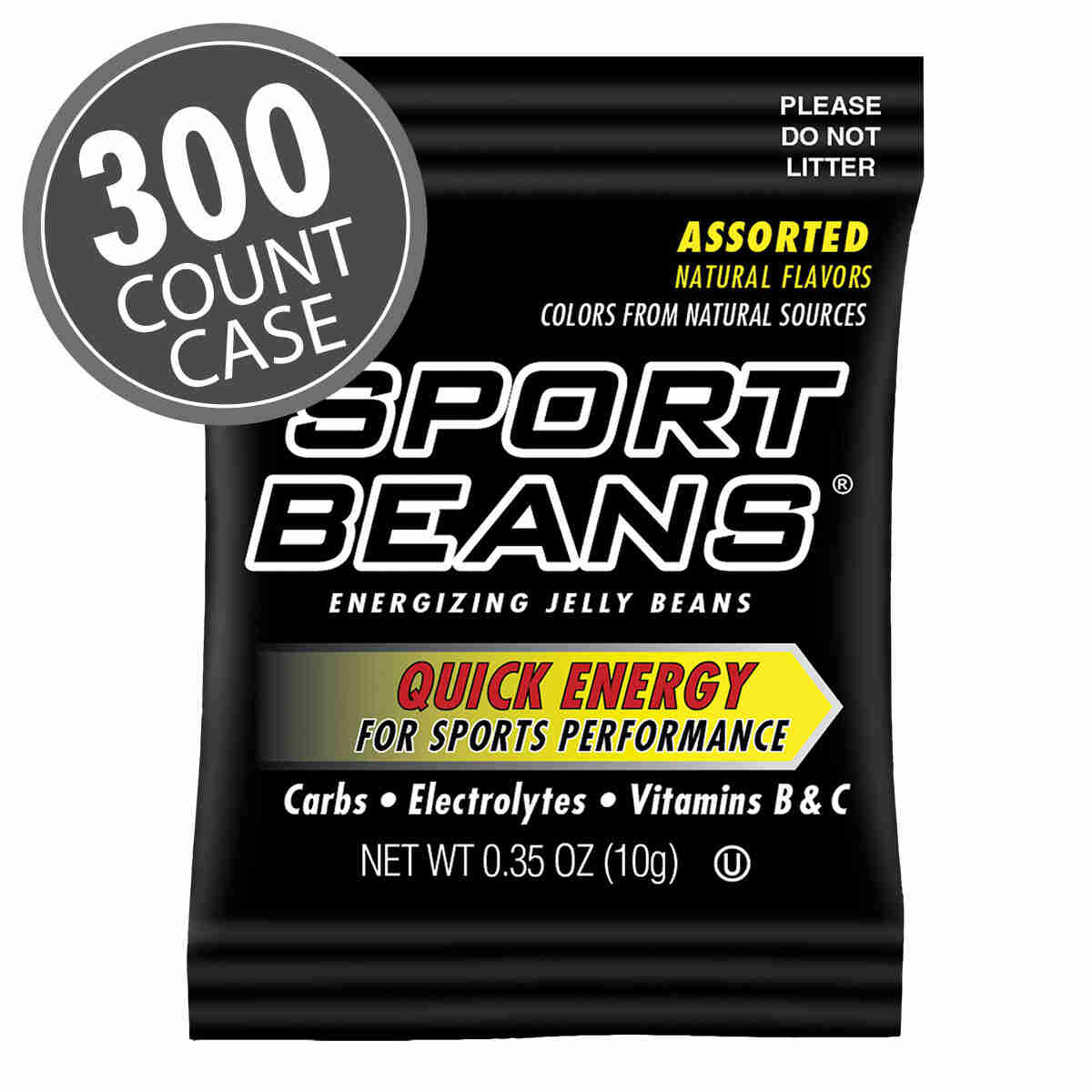 Sport Beans: 0.35 oz Assorted Sample Bags 300-Pack