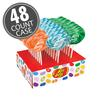 Jelly Belly Lollipops 48-Count Case - Berry Blue, Tangerine & Green Apple