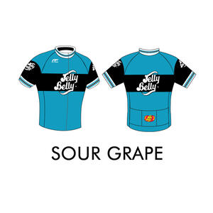 Jelly Belly Sour Grape Retro Cycling Jersey - Adult - Small