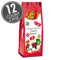 Christmas Chocolate Dutch Mints - 6 oz Gift Bags - 12 Count Case